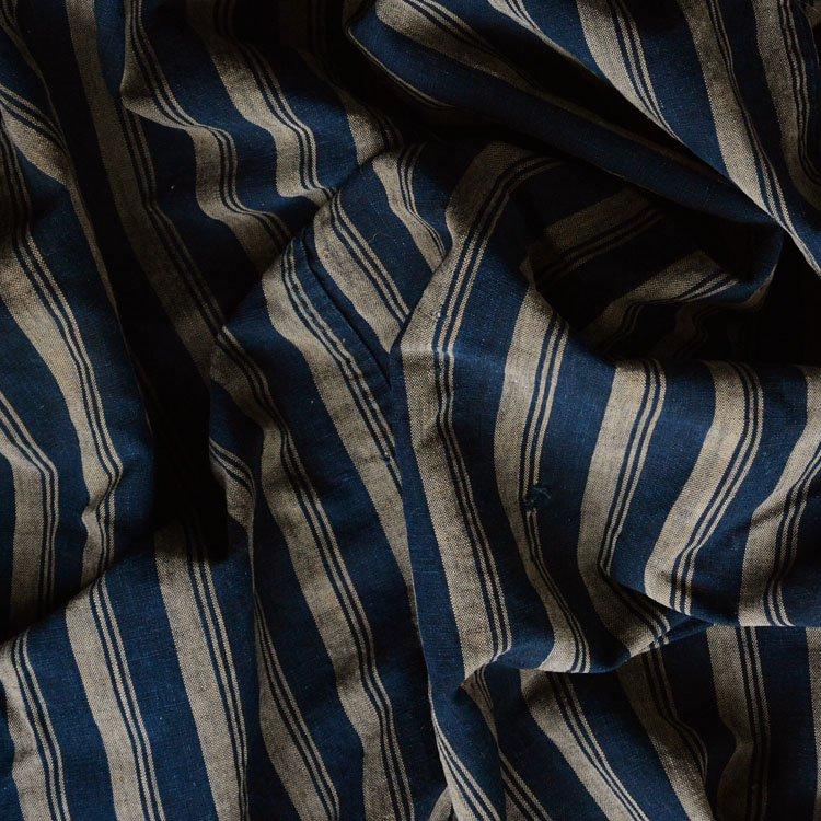 古布 藍染 木綿 縞模様 ジャパンヴィンテージ ファブリック テキスタイル 大正 | Japanese Fabric Vintage Indigo Cotton Stripe Textiles