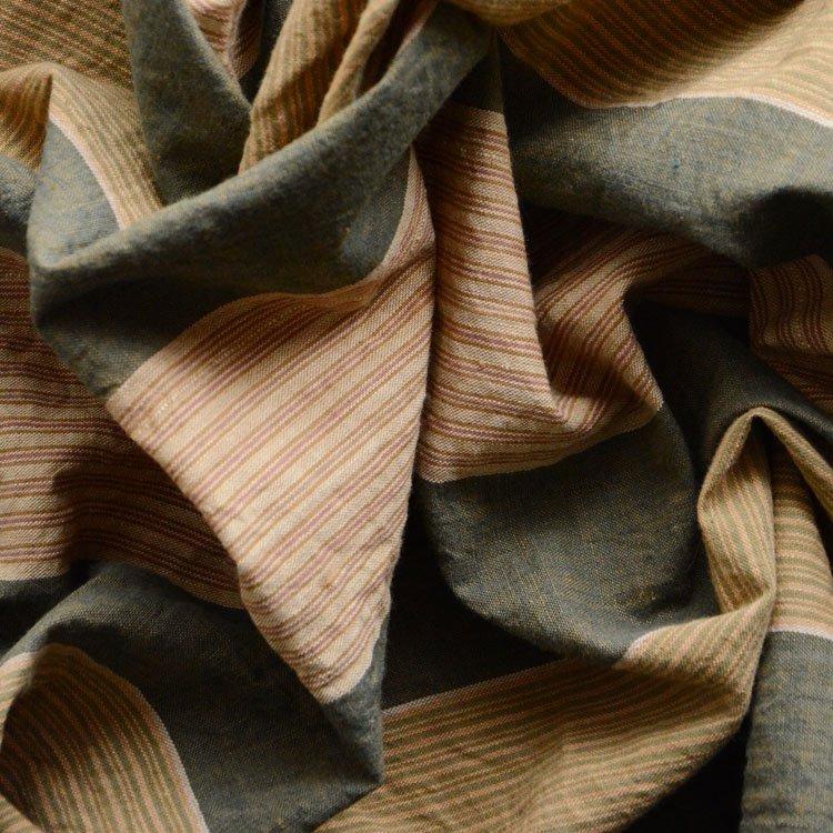 風呂敷 古布 木綿 縞模様 ジャパンヴィンテージ ファブリック 昭和   Furoshiki Wrapping Cloth Japanese Fabric Vintage Stripe Cotton