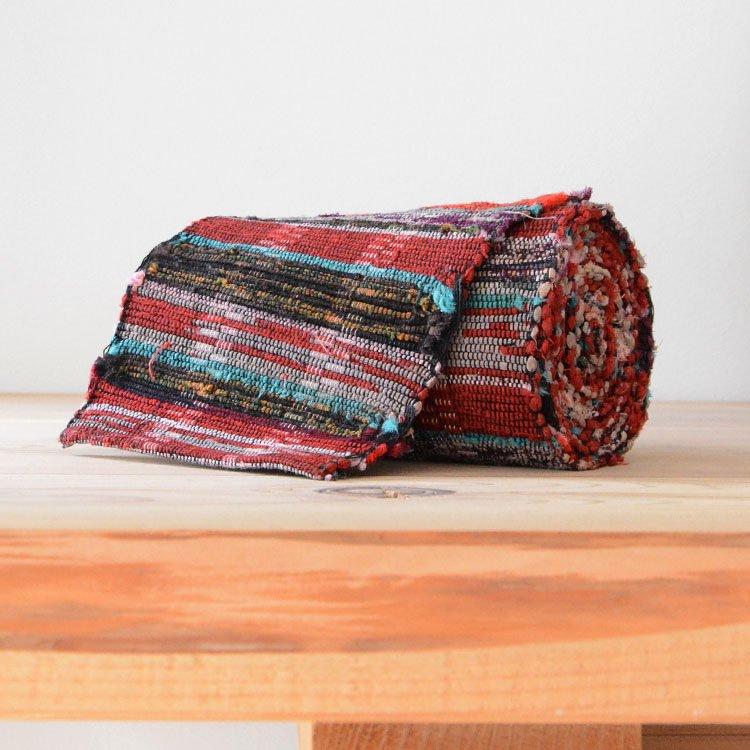 裂き織り 古布 帯 ジャパンヴィンテージ ファブリック テキスタイル 昭和 | Sakiori Rug Obi Belt Japanese Fabric Vintage Textiles