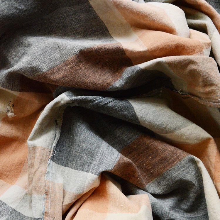 布団皮 古布 木綿 ジャパンヴィンテージ ファブリック テキスタイル 昭和 | Japanese Fabric Vintage Cotton Futon Cover Textiles