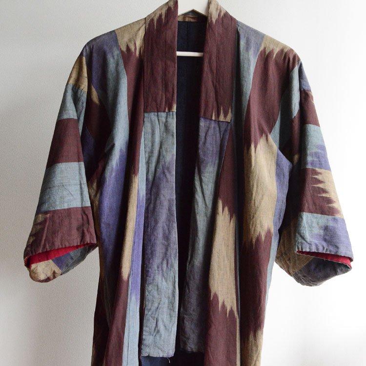 着物 木綿 クレイジーパターン ジャパンヴィンテージ 大正〜昭和初期 | Kimono Vintage Japanese Cotton Coat Crazy Pattern