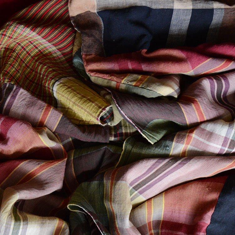 古布 木綿 こたつ布団 つぎはぎ クレイジーパターン ジャパンヴィンテージ ファブリック Kotatsu Futon Japanese Fabric Vintage Crazy Patchwork