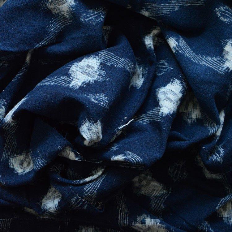 絣 生地 古布 藍染 木綿 ジャパンヴィンテージ ファブリック 昭和初期 | Indigo Fabric Japanese Vintage Kasuri Cotton Textile
