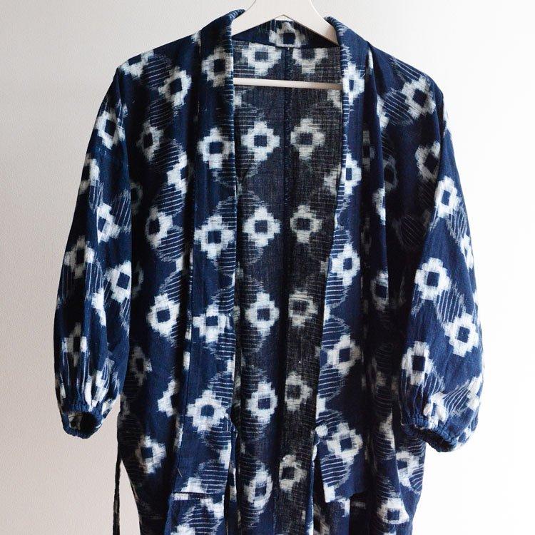 野良着 藍染 絣 木綿 上っ張り 着物 ジャパンヴィンテージ | Noragi Jacket Japanese Vintage Kimono Indigo Kasuri Fabric