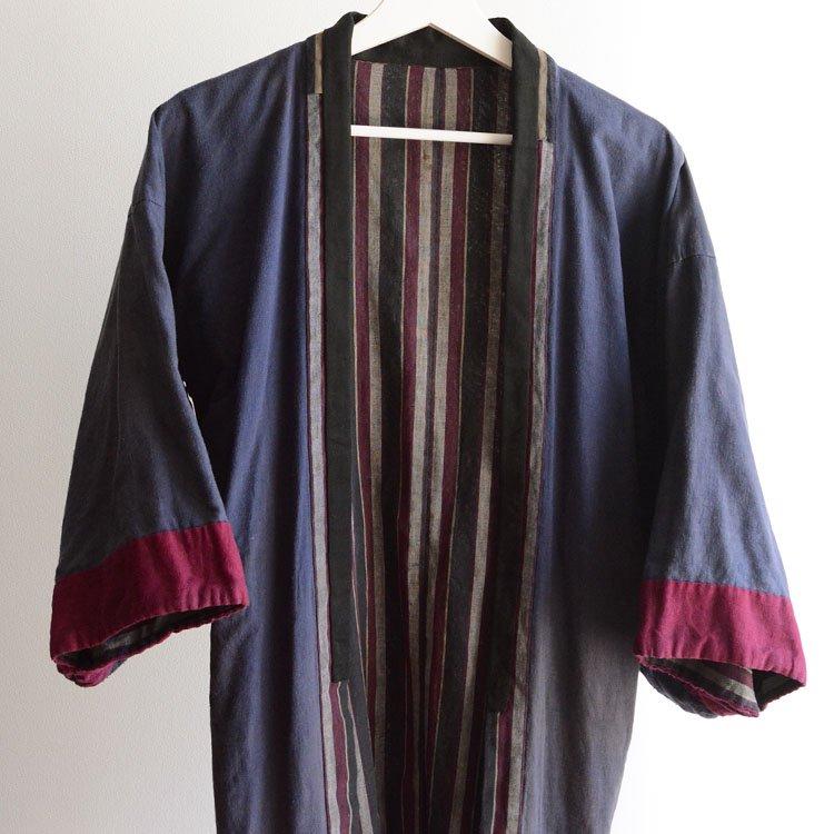 野良着 木綿 着物 縞模様 ジャパンヴィンテージ 30年代 | Noragi Jacket Japanese Vintage Kimono Cotton Stripe 30s