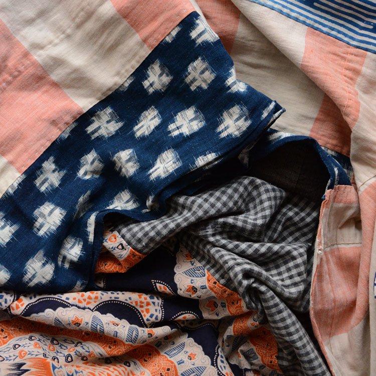 古布 木綿 クレイジーパターン つぎはぎ ジャパンヴィンテージ ファブリック | Japanese Fabric Cotton Crazy Pattern Vintage