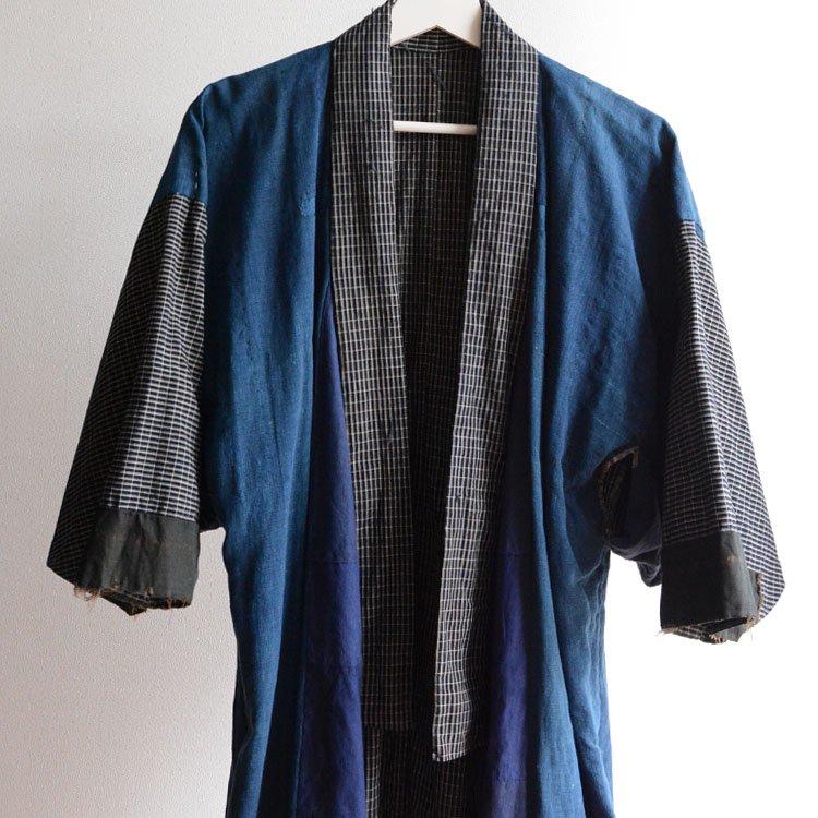 藍染 着物 クレイジーパターン 襤褸 ジャパンヴィンテージ 大正〜昭和 | Indigo Kimono Jacket Crazy Patchwork Boro Japan Vintage