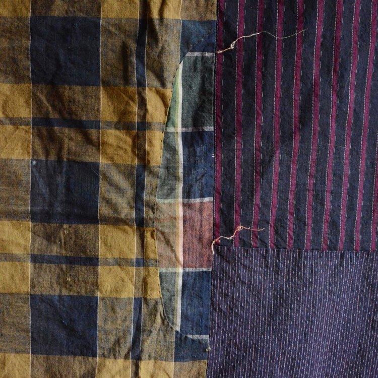 古布 木綿 襤褸 つぎはぎ クレイジーパターン ジャパンヴィンテージ 昭和初期 | Japanese Fabric Cotton Vintage Boro Crazy Patchwork