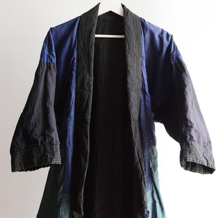着物 クレイジーパターン つぎはぎ 木綿 ジャパンヴィンテージ 昭和 | Kimono Robe Men Crazy Patterns Japan Vintage
