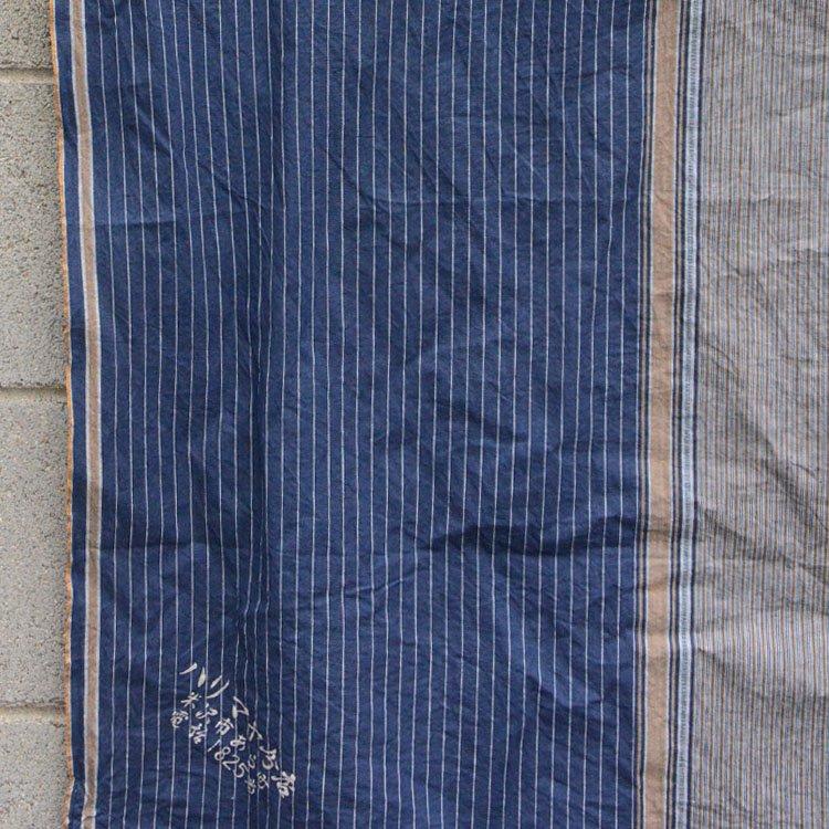 古布 木綿 風呂敷 縞模様 ジャパンヴィンテージ クレイジー テキスタイル | Furoshiki Antique Japanese Fabric Cotton Vintage