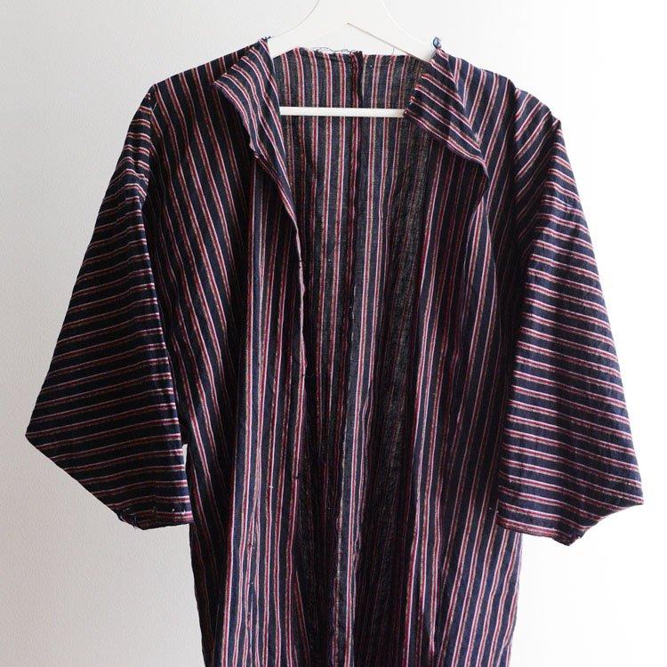 野良着 藍染 着物 木綿 ほどき ジャパンヴィンテージ 30〜40年代 | Noragi Jacket Men Japanese Vintage Kimono Indigo Cotton Stripe