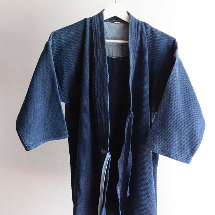 剣道着 藍染 刺し子 武州紺 | Indigo Kendo Gi Sashiko Jacket
