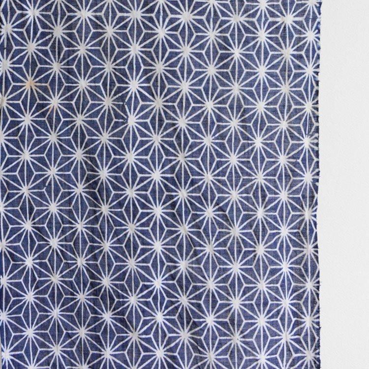 麻の葉 古布 木綿 ジャパンヴィンテージ ファブリック テキスタイル | Asanoha Fabric Japan Vintage Cotton Textile