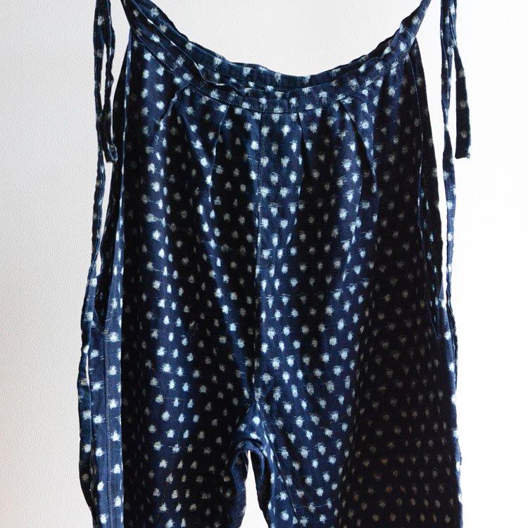 もんぺ 藍染 雪ん子絣 着物 パンツ ジャパンヴィンテージ 30〜50年代   Monpe Pants Indigo Kasuri Fabric Cotton Japan Vintage