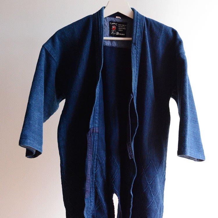 剣道着 藍染 刺し子 木綿 ジャパンヴィンテージ 昭和   Kendo Jacket Indigo Sashiko Fabric Japan Vintage Cotton