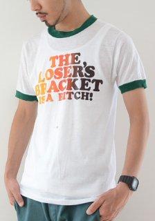 1980年代 ヴィンテージ エロ メッセージ スラング トリム プリント Tシャツ 白 1980s Vintage Erotic Message Trim T-Shirt