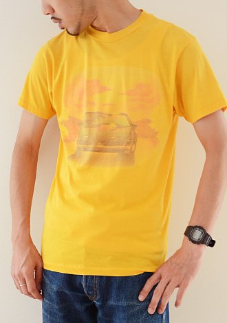 1980年代 ヴィンテージ Hanes ヘインズ オールド アメリカン カー Tシャツ 1980s Vintage Old American Car Print T-Shirt