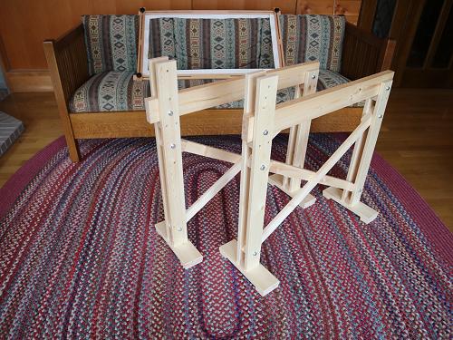 刺しゅう台と四角型フープ枠600×1000