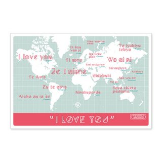 WORLD GREETING ポストカード 「I LOVE YOU」
