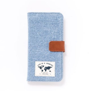 旅するiPhoneケース-DENIM- light DENIM《iPhone7/6/6s対応》