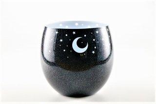 ラメシリーズ うすグラス 夜空ネイビーグリーン(内側:白)