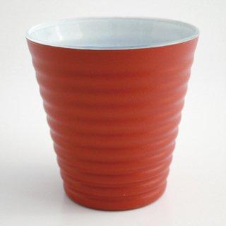 漆のグラス オレンジ(内側:白)