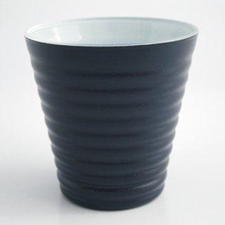 漆のグラス 紺(内側:白)