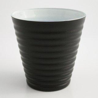 漆のグラス 黒(内側:白)