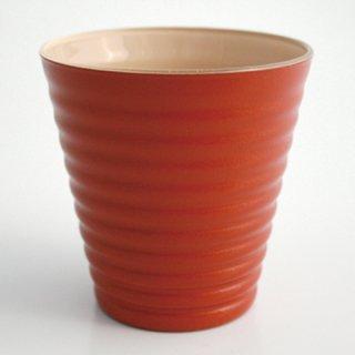 漆のグラス オレンジ(内側:クリーム)