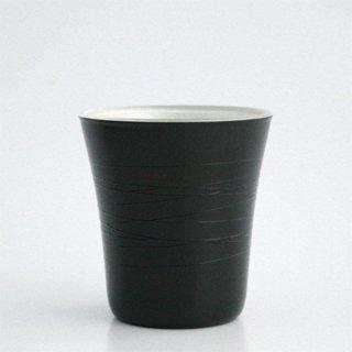 フリーカップ小 黒(内側:白ラメ)