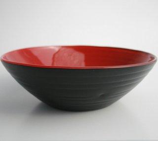フリーボウル(大)黒(内側:赤)