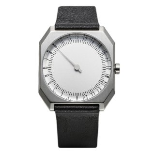 SLOW WATCH SLOW JO 05 Black Leather, Silver Case, Silver Dial