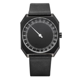 SLOW WATCH SLOW JO 24 All Black Vintage Leather