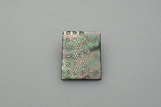 Flower blind silver brooch