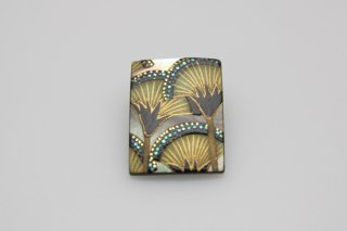 Lotus square brooch