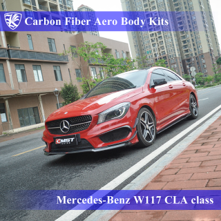 Mercedes-Benz W117 CLA220/250/45 前期 Kerberos K'sスタイル 3D Real Carbon カーボンファイバーボディキット 10点キット