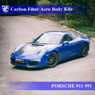 PORSCHE 911 991 前期 Kerberos K'sスタイル 3D Real Carbon カーボンファイバーボディキット 6点キット