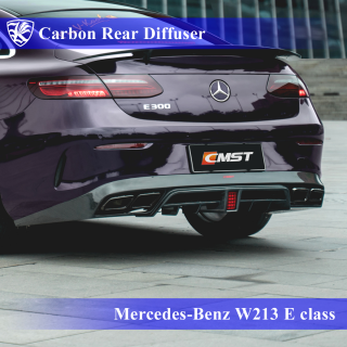 Mercedes-Benz W213 E200/300/400 クーペスポーツ Kerberos K'sスタイル 3D Real Carbon カーボンリアディフューザー 【AK-2-192】