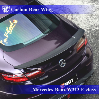 Mercedes-Benz W213 E200/300/400 クーペスポーツ Kerberos K'sスタイル 3D Real Carbon カーボンリアウィング 【AK-2-193】