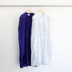 Honnete [オネット] ''No Collar Shirts Dress'' (LADIES')<img class='new_mark_img2' src='https://img.shop-pro.jp/img/new/icons13.gif' style='border:none;display:inline;margin:0px;padding:0px;width:auto;' />