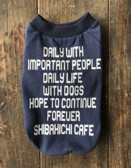 SHIBAKICHI CAFE 10th anniversary-T・for DOGS NAVY