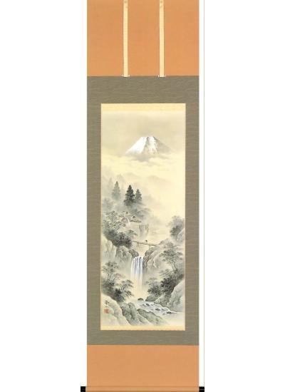 「水墨山水」 木村 挙山 尺五立 商品№A331 - 掛け軸・表装・額縁 ...