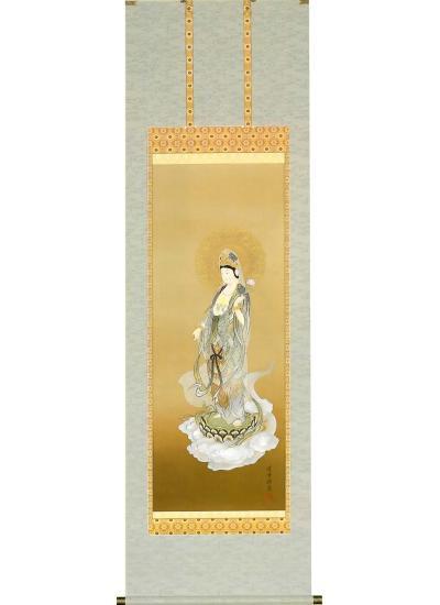「雲上聖観音」 和田 清雪 尺五立 高級桐箱収納