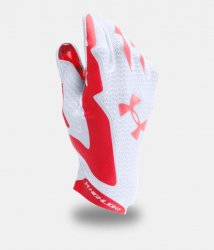 UNDER ARMOUR HIGHLIGHT FOOTBALL GLOVES ホワイト・レッド