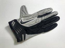Lサイズ NIKE SUPERBAD PADDED FOOTBALL GLOVES グレー・ブラック