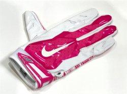 Lサイズ NIKE NCAA VAPOR JET 3.0 FOOTBALL GLOVES ホワイト・ピンク
