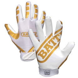 Battle Ultra-Stick Receiver Gloves ホワイト・ゴールド