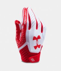 UNDER ARMOUR SPOTLIGHT 2017 FOOTBALL GLOVES ホワイト・レッド