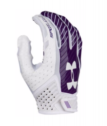 UNDER ARMOUR SPOTLIGHT 2017 FOOTBALL GLOVES ホワイト・パープル