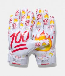 UNDER ARMOUR F5 FOOTBALL GLOVES LE EMOJI 2017